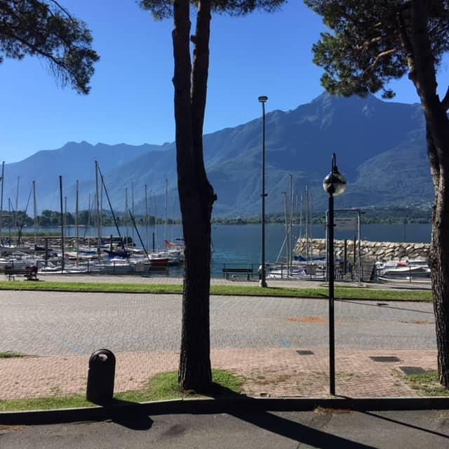 Uitzicht vanaf het terras appartement Porto Vista